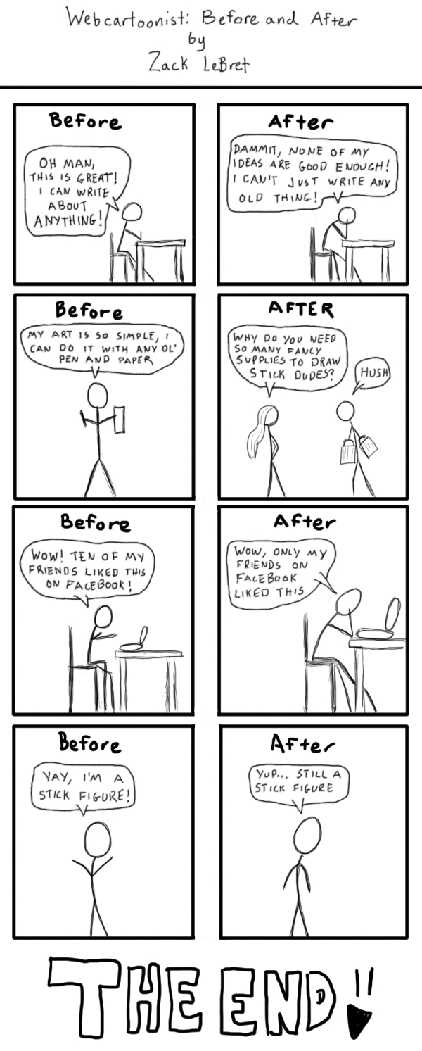 Webcartoonist: Before and After