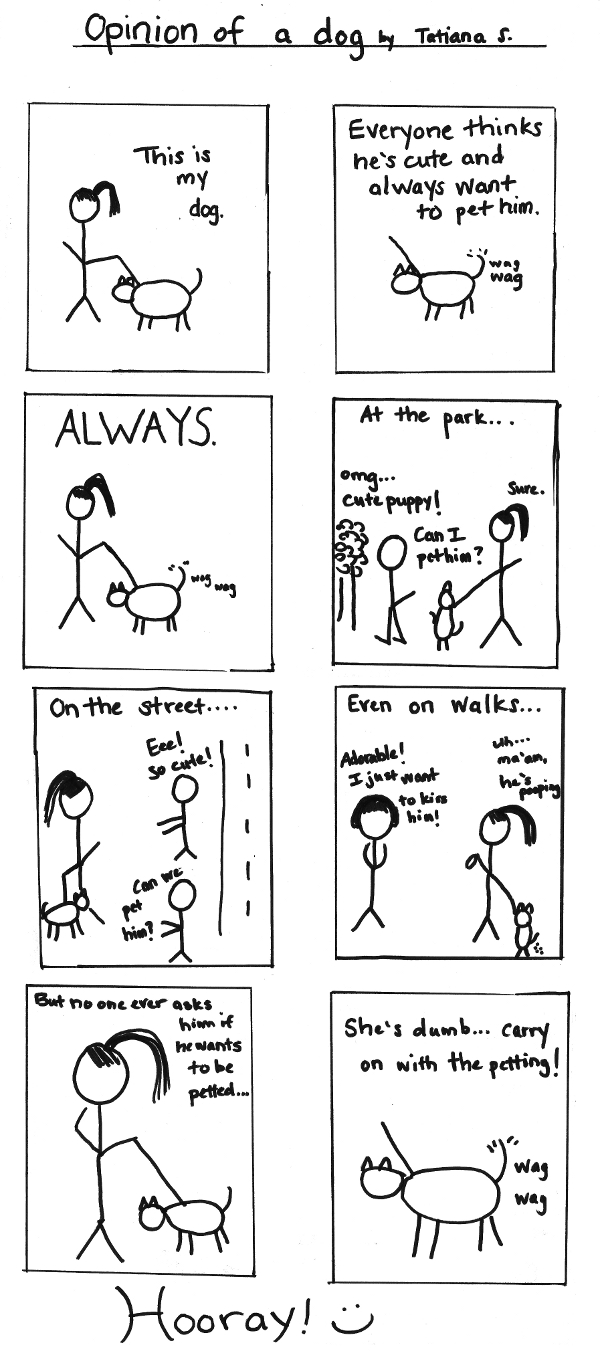 "Guest Comic by Tatiana S. - ""Opinion of a Dog"""
